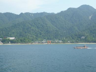 帰りの船からの景色