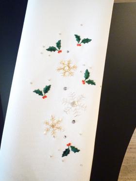クリスマスを意識した半衿−拡大画像