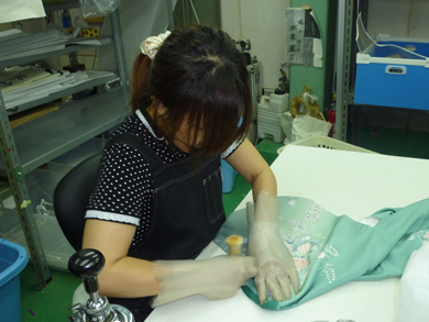 丸洗い前の下処理